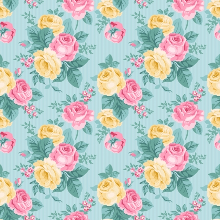 Ilustración de seamless vintage floral pattern - Imagen libre de derechos