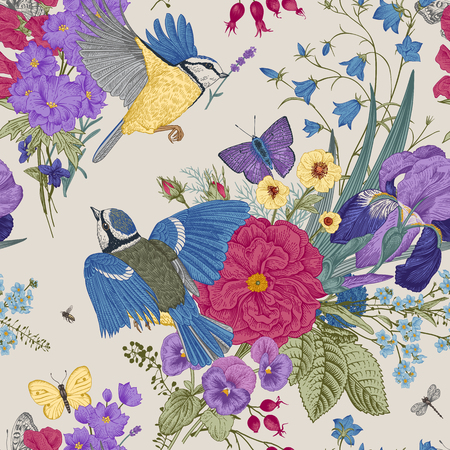 Illustration for Seamless floral pattern. - Royalty Free Image