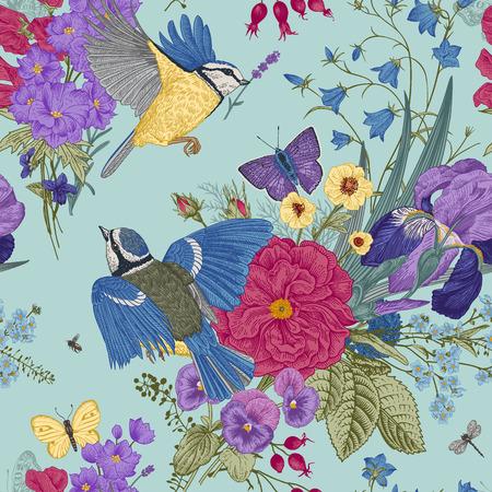 Ilustración de Seamless floral pattern. - Imagen libre de derechos
