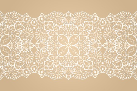 Illustration pour Seamless lace ribbon - image libre de droit