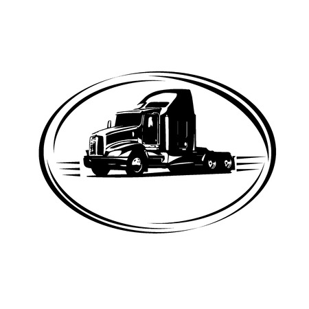 Photo for delivery cargo truck, vector illustration - Royalty Free Image