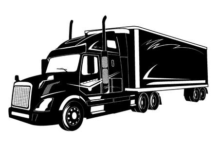 Illustration pour icon of truck, semi truck, vector illustration - image libre de droit