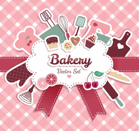 Illustration pour bakery and sweets abstract illustration. - image libre de droit