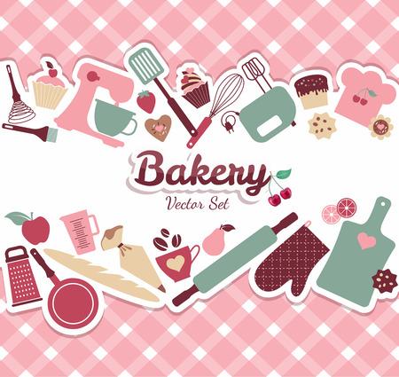 Illustration pour Bakery and sweet illustration - image libre de droit