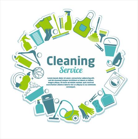 Ilustración de Cleaning service illustration. - Imagen libre de derechos