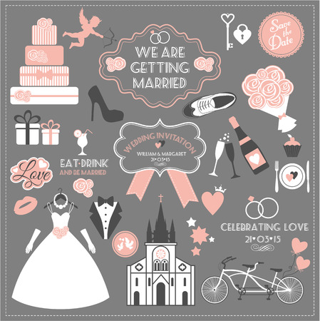 Photo pour Wedding set. - image libre de droit