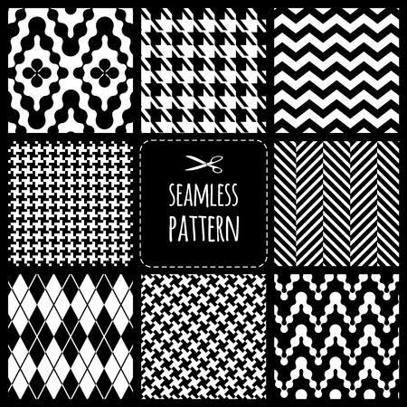 Illustration for Seamless set fabric pattern - Royalty Free Image