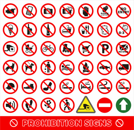 Illustration pour No set symbol.Prohibition set symbol. Vector icon set. - image libre de droit