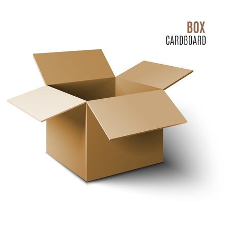 Illustration pour Cardboard box icon. Vector 3d model of box. - image libre de droit