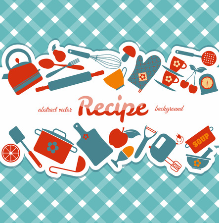 Illustration pour Kitchen abstract background. - image libre de droit