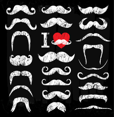 Illustration pour Moustaches set. Design elements. - image libre de droit