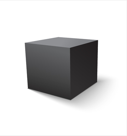 Illustration pour Box black icon. Template for your design. Vector illustration. - image libre de droit