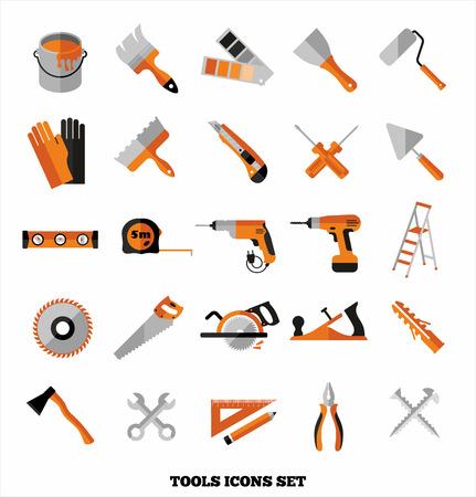 Ilustración de Buildings tools icons set. Flat design symbols. - Imagen libre de derechos