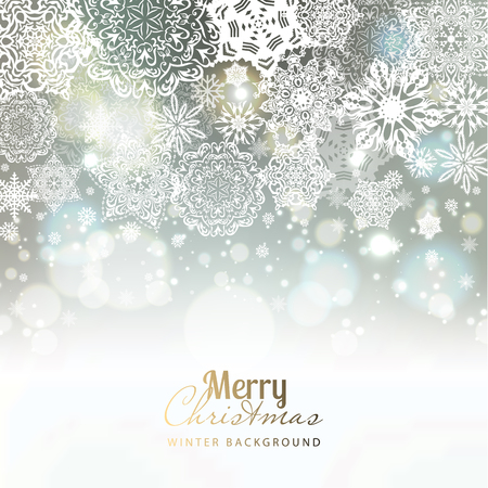 Illustration pour Snowflake background. Vector holiday backdrop. - image libre de droit
