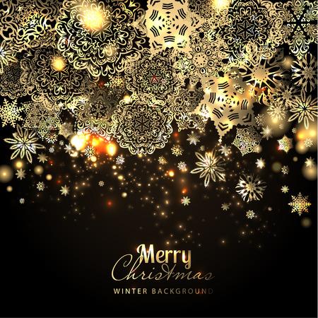 Illustration pour Snowflake background. Vector holiday backdrop. - image libre de droit
