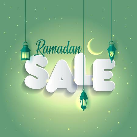 Illustration for Vector Illustration Ramadan Sale. Banner, Discount label Sale - Royalty Free Image