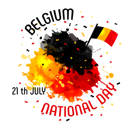Illustration pour Vector illustration,banner or poster for independence day of Belgium. - image libre de droit