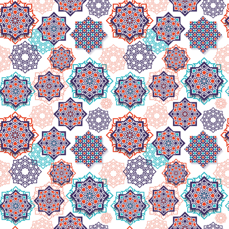 Illustration for Festival graphic of islamic geometric art. - Royalty Free Image