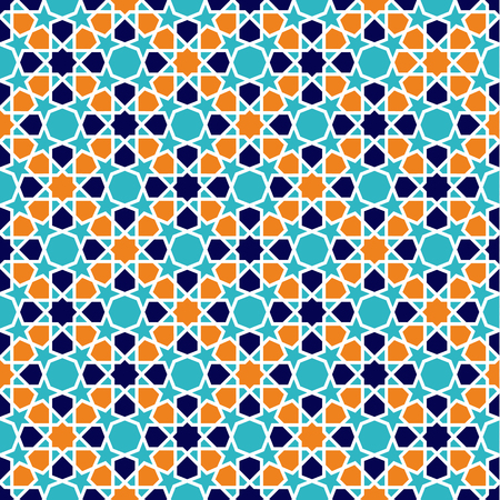 Illustration for Seamless Islamic patterns in beige. Traditional muslim ornament. - Royalty Free Image