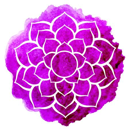 Illustration pour Sahasrara chakra - image libre de droit
