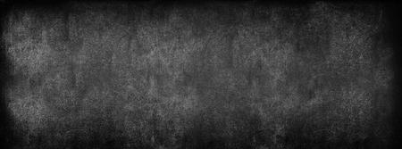 Photo pour Black Classroom Blackboard Background. Chalk Erased School Chalkboard Vintage Texture. Long format - image libre de droit