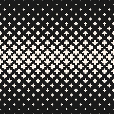 Illustration pour Black and white geometric pattern. - image libre de droit