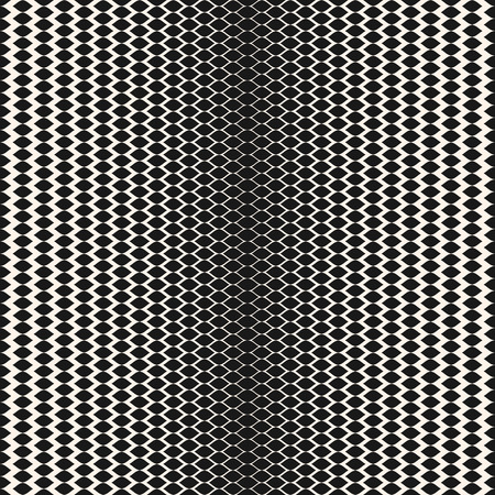 Illustration pour Halftone seamless pattern, vector monochrome texture with gradient transition effect. Illustration of mesh with gradually thickness, smooth wavy lines. Abstract background, repeat design for prints - image libre de droit