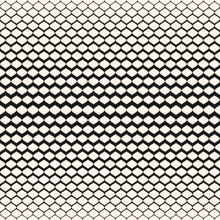 Illustration pour Halftone seamless pattern, vector monochrome texture with gradient transition effect. Illustration of mesh with gradually thickness. Modern abstract background. Design element for prints, cover, decor - image libre de droit