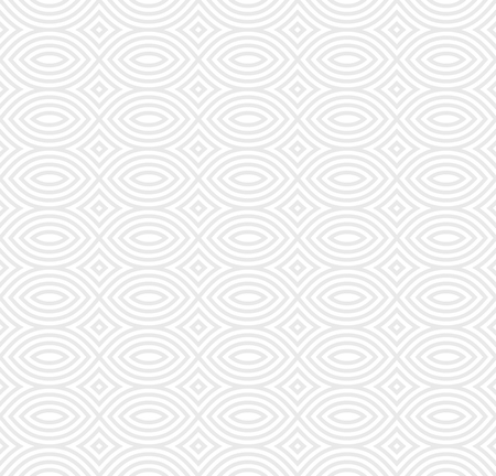 Illustration pour Vector monochrome seamless pattern, black & white geometric endless repeat texture. Simple abstract mosaic background. Design element for prints, decoration, textile, fabric, digital, web, package - image libre de droit