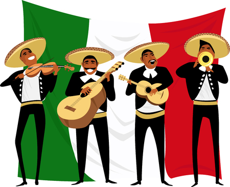 Illustration for Mexican musicians. vector illustration - Royalty Free Image