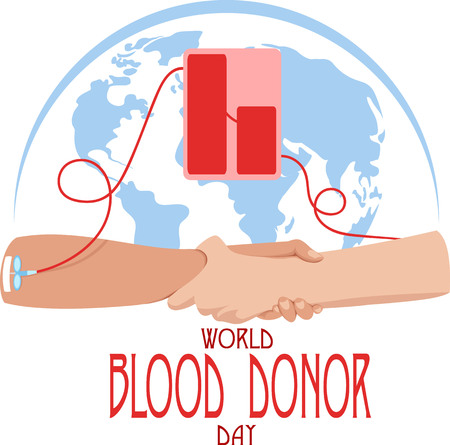 Illustration pour world blood donor day poster template  vector illustration - image libre de droit