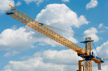 Photo for Construction crane against the sky - Royalty Free Image