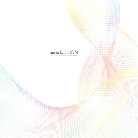 Illustration pour Abstract background with colorful wavy lines. Elegant wave design. Vector technology. - image libre de droit