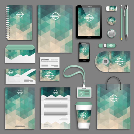 Illustration pour Corporate identity template set. Business stationery mock-up . Branding design. - image libre de droit