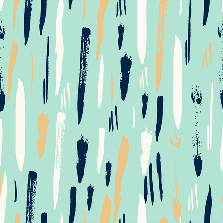 Ilustración de Aqua Mint gold Scandinavian seamless pattern with brush strokes. Geometric texture. Abstract background. - Imagen libre de derechos