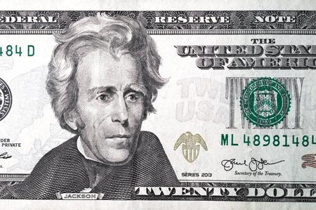 Foto de Close up of different dollar bills.  Concept of money and earnings. Money savings. - Imagen libre de derechos