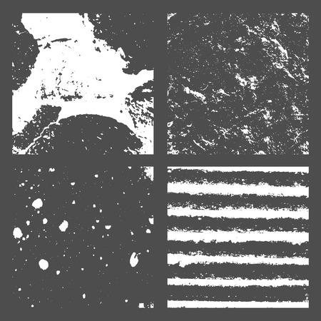 Ilustración de Grunge Black and White Distress Texture - Imagen libre de derechos