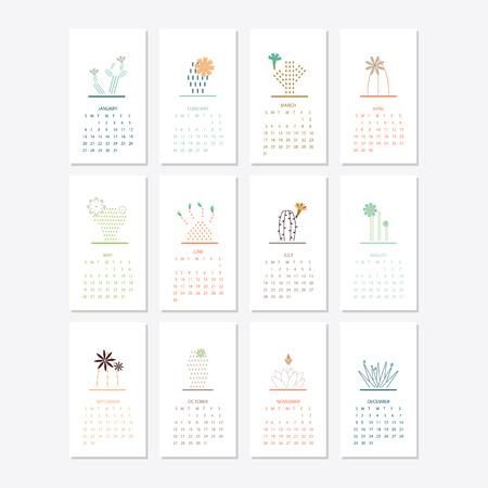 Illustration pour 2019 Calendar template design - image libre de droit