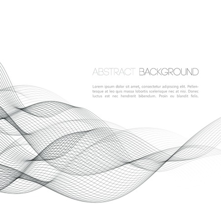 Ilustración de Vector Abstract curved lines background. Template  design - Imagen libre de derechos
