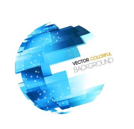 Illustration pour Vector Abstract technology digital lines vector background. Globe concept - image libre de droit