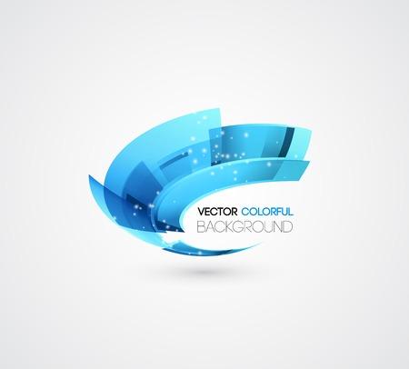 Ilustración de Vector Abstract technology digital lines vector background. Logo design - Imagen libre de derechos