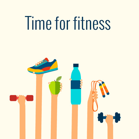Ilustración de Fitness concept - Imagen libre de derechos