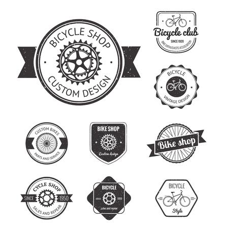 Illustration pour Set of  bicycle shop badges and labels made in vector - image libre de droit