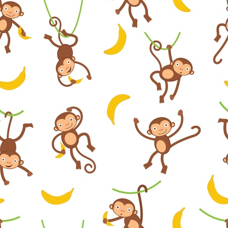 A cute monkeys seamless pattern