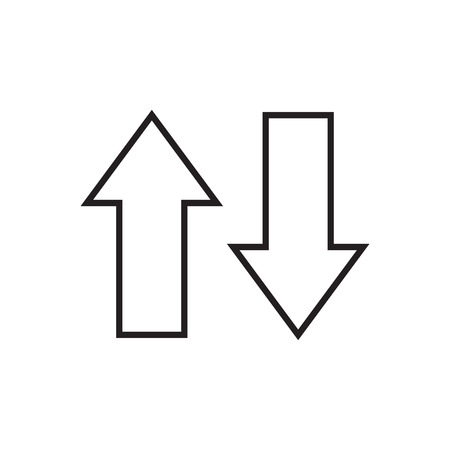 Illustration pour Line arrows up and down. Vector illustration. - image libre de droit