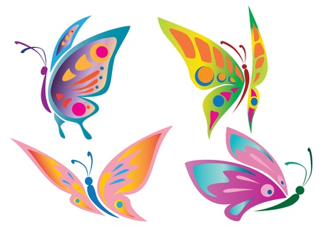 Illustration pour Butterfly Icons - image libre de droit