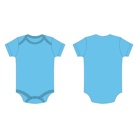 Illustration pour baby blue color baby bodysuit romper isolated vector on the white background - image libre de droit