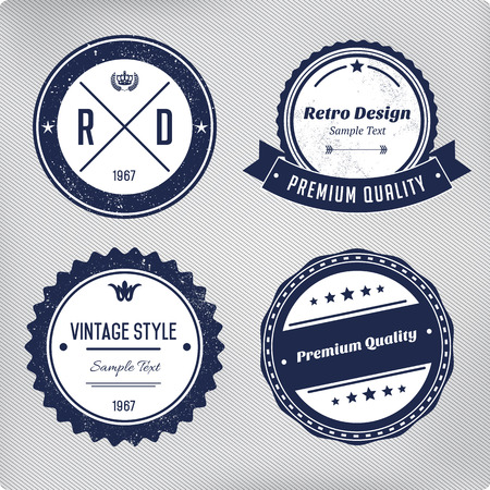 Photo for Retro logo elements set. Collection of vector vintage labels. - Royalty Free Image
