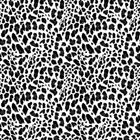 Illustration for Leopard pattern, seamless background Vector illustration. - Royalty Free Image