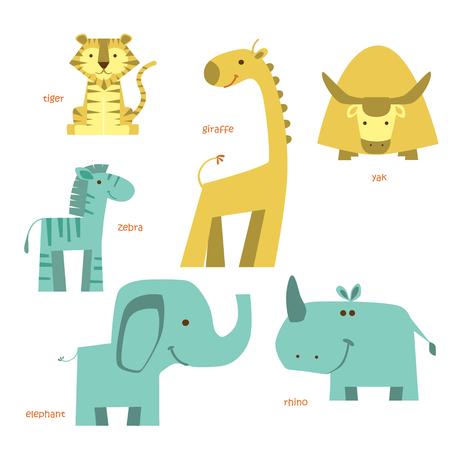 Animals vector set